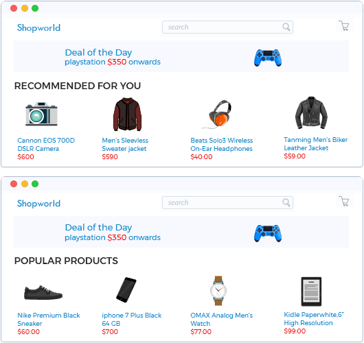 recommendation system for ecommerce